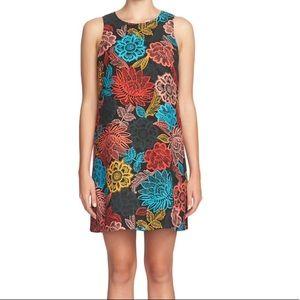 CeCe floral shift Arlington sleeveless mini dress